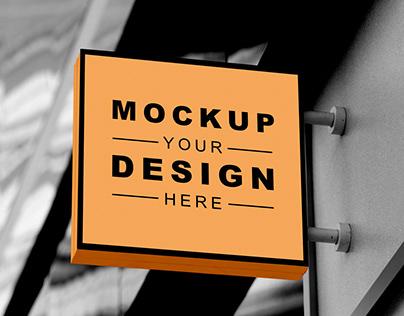 Free Signage Mockup PSD