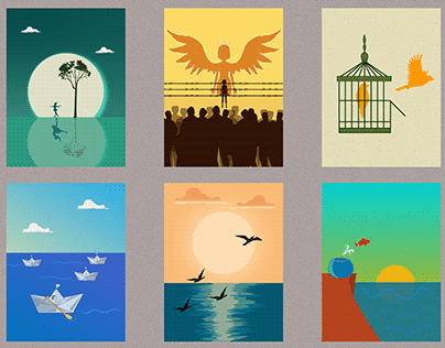Simple Illustrations - Dream, Believe, Dare