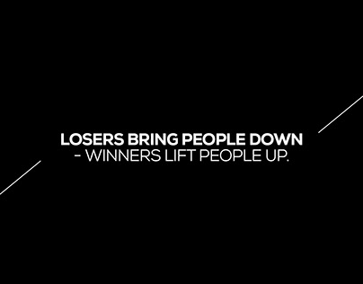 WINNERS LIFT PEOPLE UP