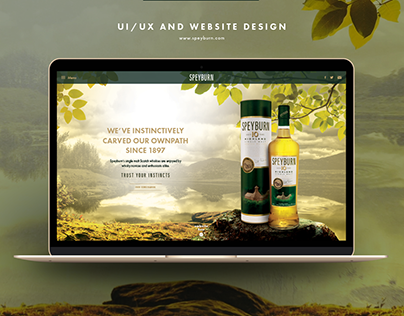Speyburn Single Malt Whisky - website design