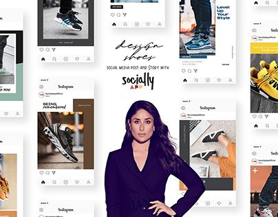 Shoes Social Media Post, Poster, Ads & Story Design