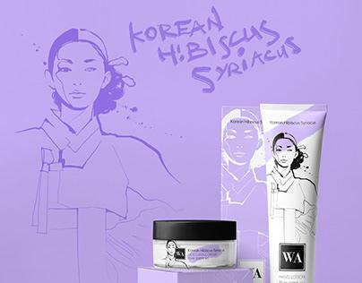 WA Cosmetics Illustration/ Packaging Design