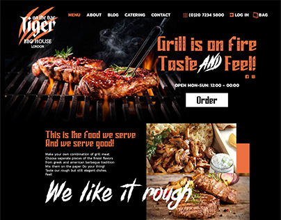 Restaurant Web page
