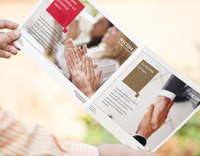 Ricoh UK Ltd Learning & Development Brochure design