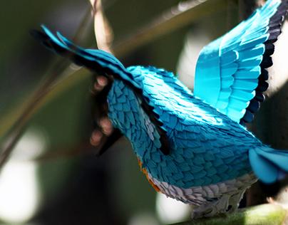 Blue Paper Bird