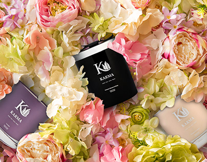 Identity Design & Digital Design for Karma Candles