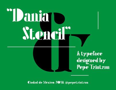 Dania Stencil typeface