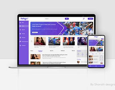 Yahoo Redesign Responsive