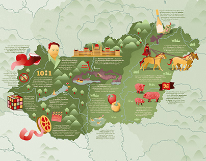Illustrated Map of Hungary
