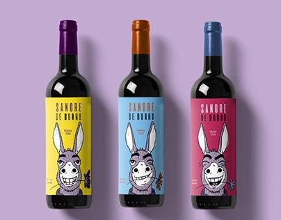 Sangre de burro - Serie de etiquetas ilustradas