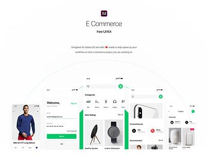 Free Shopping Ecommerce UI Kit XD