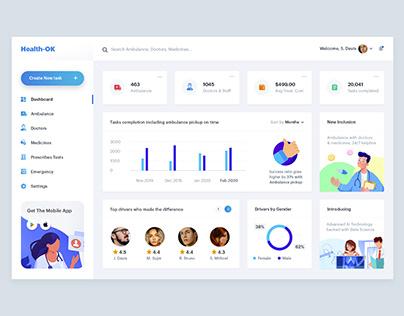 Concept Admin Dashboard Design