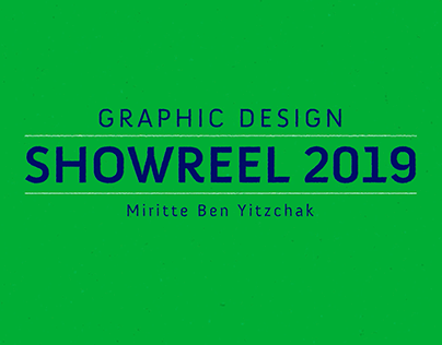 Graphic design showreel 2019
