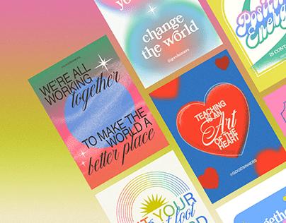 GOODSINNERS Digital Typography Art Cards