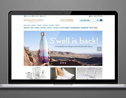 Gracious Home — website design and e-mail marketing
