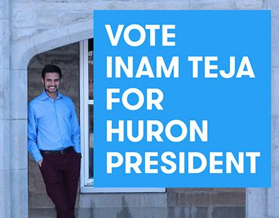 Inam for Huron President (Student Politics Campaign)