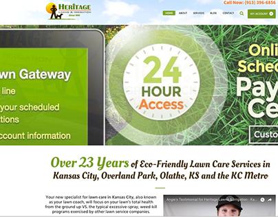 Heritage Lawns & Irrigation: Website Redesign 2018