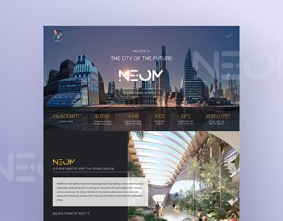 NEOM City of the future Website Redesign - UI/UX