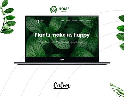 Website presentation - Home Nature
