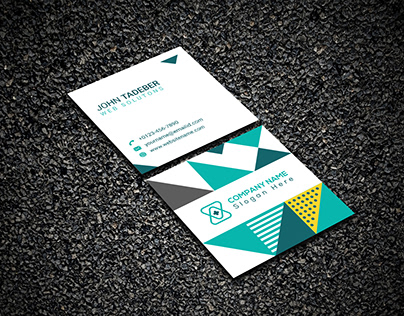 Square Business Card Design With Mock-up Free Download