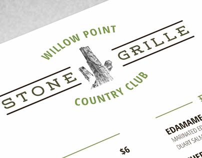 Stone Grille Restaurant Menu