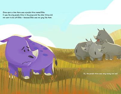 The Adventure Of Bibo the purple rhino