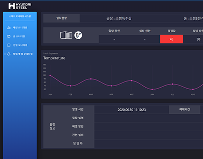 20.07 Hyundai Steel Smart Mornitoring System UI Design