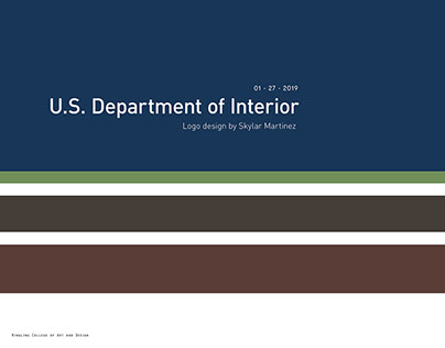 U.S. Department of Interior Logo Rebrand Pitch Deck