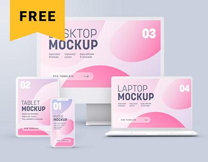 Free Multi Device Clay Mockup Set