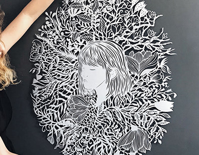 "Large paper art work ""One summer evening"""