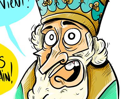 Illustration of Pope Urban II - Creative process steps