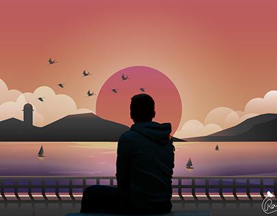 Sunset- Digital Painting