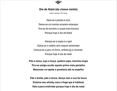 DIA DE NATAL (da classe média) - JP França