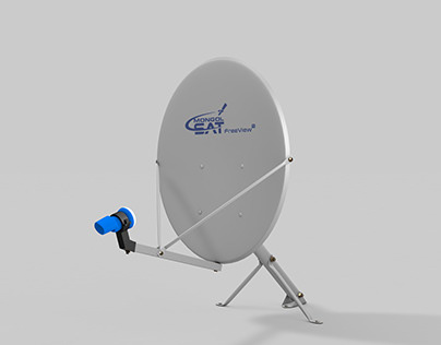 Satellite Ku Band Dish #Mongolsat #Satellite #Dish