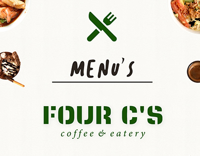 FOUR C'S Coffee & Eatery Menu Book