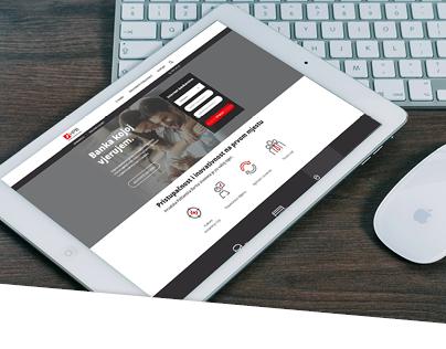 Banking website concept