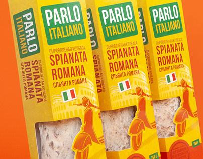 Parlo Italiano. Italian sausage branding