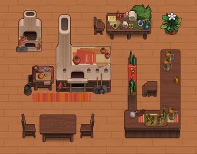 Inn keeper's Story — game visual style