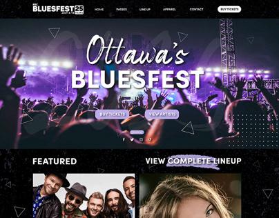 Website Design for Ottawa Bluesfest
