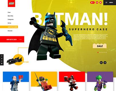 """LEGO BATMAN"" Web design"