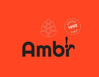 Ambr - Logo et étiquette