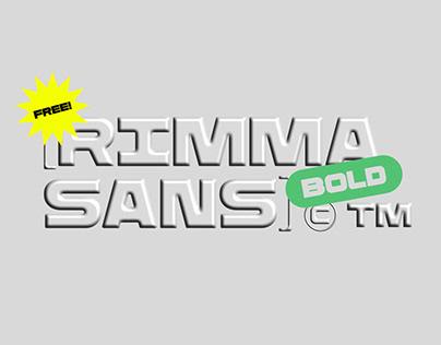 Rimma Sans Bold Free Typeface