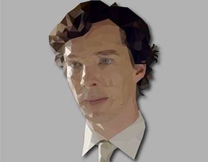 polygon art portrait