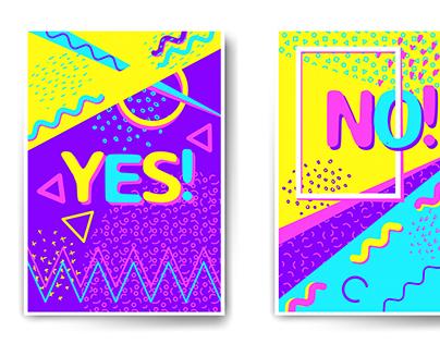 Juicy colors memphis posters.