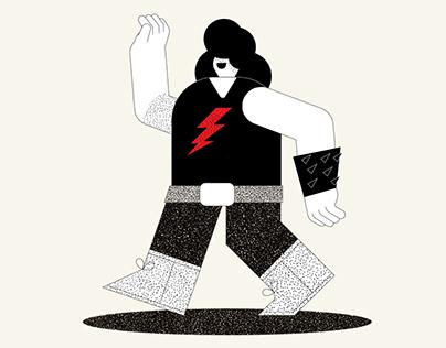 Halloween Werewolf Rock Star
