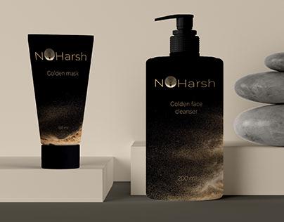 No Harsh - luxurious cosmetics brand identity