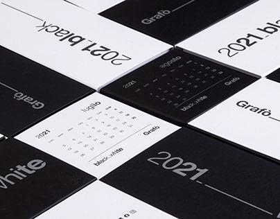 Black-White Calendar 2021