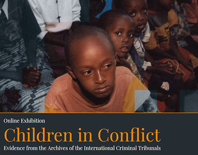 "Web design: Online exhibition ""Children in Conflict"""