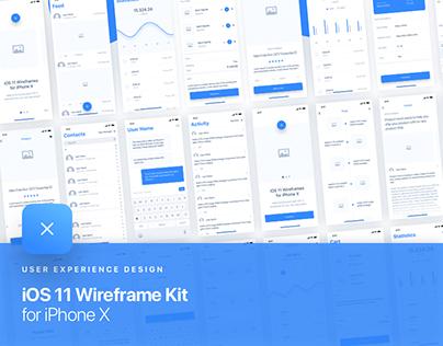 UIXO iOS 11 Wireframe Kit