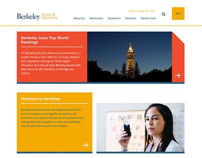UC Berkeley School of Optometry Website